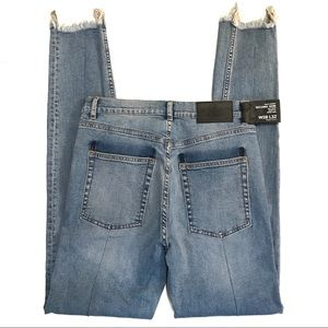 Cheap Monday Jeans - Cheap Monday Second Skin High Rise Fray Hem Jeans